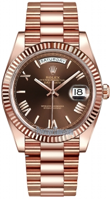 Rolex Day-Date 40mm Everose Gold 228235 Chocolate Roman