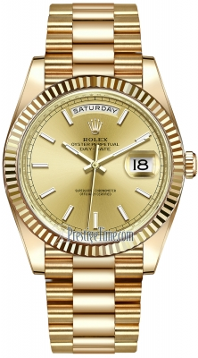 Rolex Day-Date 40mm Yellow Gold 228238 Champagne Index