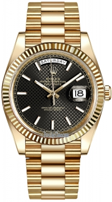 Rolex Day-Date 40mm Yellow Gold 228238 Black Diagonal Index