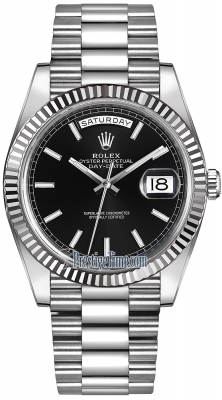Rolex Day-Date 40mm White Gold 228239 Black Index