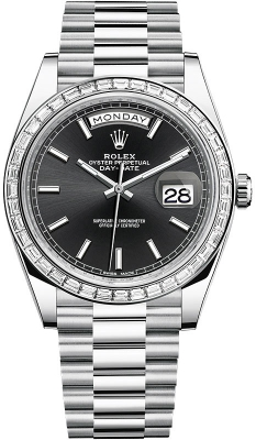 Rolex Day-Date 40mm Platinum 228396TBR Black Index