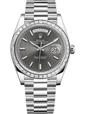 Rolex Day-Date 40mm Platinum 228396TBR Dark Rhodium Index