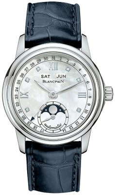 Blancpain Leman Ladies Moonphase & Complete Calendar 34mm 2360-1191a-55b