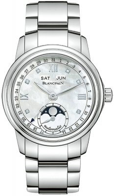 Blancpain Leman Ladies Moonphase & Complete Calendar 34mm 2360-1191a-71