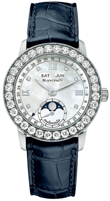 Blancpain Leman Ladies Moonphase & Complete Calendar 34mm 2360-1991a-55b