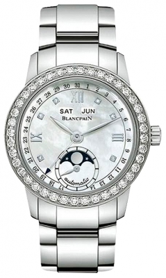 Blancpain Leman Ladies Moonphase & Complete Calendar 34mm 2360-1991a-75