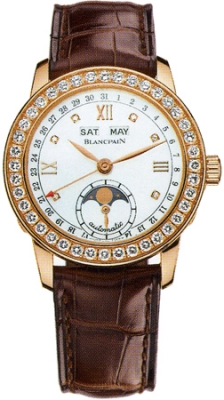 Blancpain Leman Ladies Moonphase & Complete Calendar 34mm 2360-2991a-55