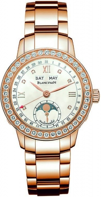 Blancpain Leman Ladies Moonphase & Complete Calendar 34mm 2360-2991a-76