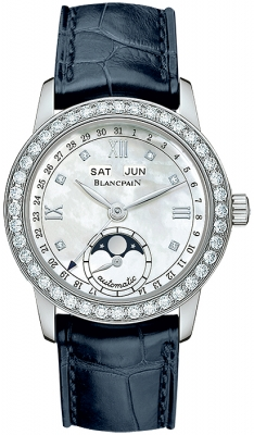 Blancpain Leman Ladies Moonphase & Complete Calendar 34mm 2360-4691a-55b