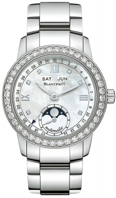 Blancpain Leman Ladies Moonphase & Complete Calendar 34mm 2360-4691a-71
