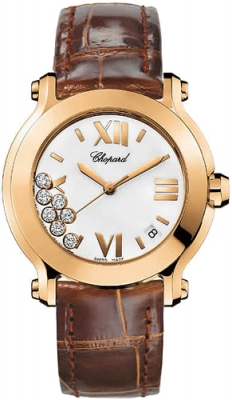 Chopard Happy Sport Round Quartz 36mm 277471-5001 brown