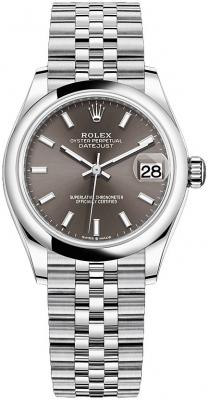 Rolex Datejust 31mm Stainless Steel 278240 Dark Grey Index Jubilee