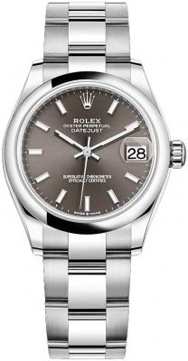 Rolex Datejust 31mm Stainless Steel 278240 Dark Grey Index Oyster