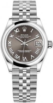 Rolex Datejust 31mm Stainless Steel 278240 Dark Grey Roman Jubilee