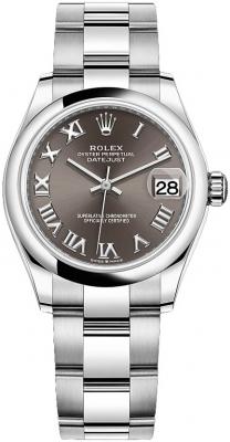 Rolex Datejust 31mm Stainless Steel 278240 Dark Grey Roman Oyster