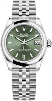 Rolex Datejust 31mm Stainless Steel 278240 Mint Green Index Jubilee