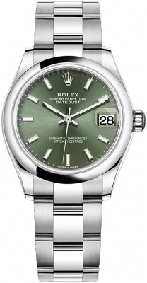 Rolex Datejust 31mm Stainless Steel 278240 Mint Green Index Oyster