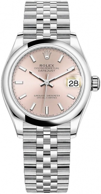 Rolex Datejust 31mm Stainless Steel 278240 Pink Index Jubilee