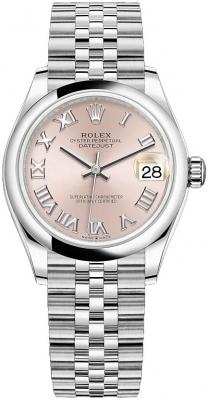 Rolex Datejust 31mm Stainless Steel 278240 Pink Roman Jubilee