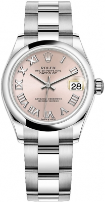 Rolex Datejust 31mm Stainless Steel 278240 Pink Roman Oyster