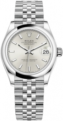 Rolex Datejust 31mm Stainless Steel 278240 Silver Index Jubilee