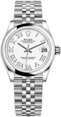 Rolex Datejust 31mm Stainless Steel 278240 White Roman Jubilee
