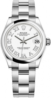 Rolex Datejust 31mm Stainless Steel 278240 White Roman Oyster
