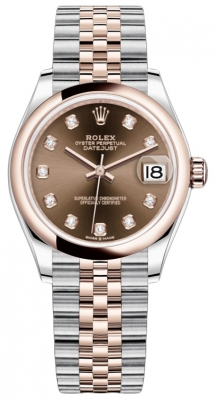 Rolex Datejust 31mm Stainless Steel and Rose Gold 278241 Chocolate Diamond Jubilee
