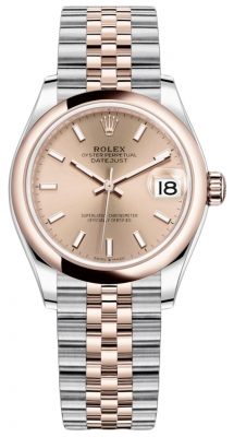 Rolex Datejust 31mm Stainless Steel and Rose Gold 278241 Gold Index Jubilee