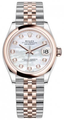 Rolex Datejust 31mm Stainless Steel and Rose Gold 278241 MOP Diamond Jubilee