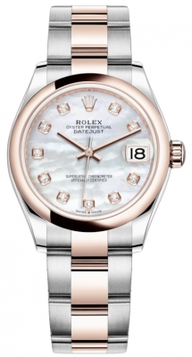 Rolex Datejust 31mm Stainless Steel and Rose Gold 278241 MOP Diamond Oyster