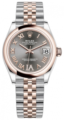 Rolex Datejust 31mm Stainless Steel and Rose Gold 278241 Rhodium Roman VI Jubilee