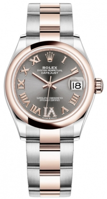 Rolex Datejust 31mm Stainless Steel and Rose Gold 278241 Rhodium Roman VI Oyster