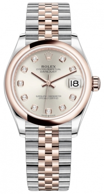 Rolex Datejust 31mm Stainless Steel and Rose Gold 278241 Silver Diamond Jubilee