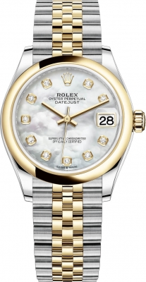 Rolex Datejust 31mm Stainless Steel and Yellow Gold 278243 MOP Diamond Jubilee
