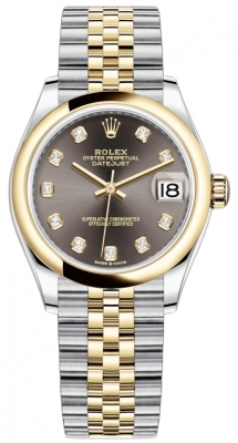 Rolex Datejust 31mm Stainless Steel and Yellow Gold 278243 Grey Diamond Jubilee