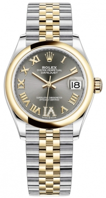 Rolex Datejust 31mm Stainless Steel and Yellow Gold 278243 Grey VI Roman Jubilee