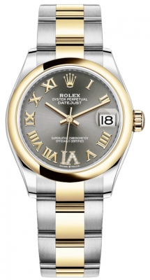 Rolex Datejust 31mm Stainless Steel and Yellow Gold 278243 Grey VI Roman Oyster