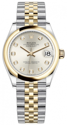 Rolex Datejust 31mm Stainless Steel and Yellow Gold 278243 Silver Diamond Jubilee
