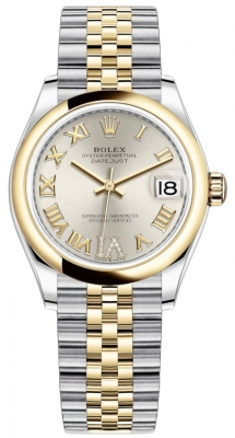 Rolex Datejust 31mm Stainless Steel and Yellow Gold 278243 Silver VI Roman Jubilee
