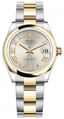 Rolex Datejust 31mm Stainless Steel and Yellow Gold 278243 Silver VI Roman Oyster
