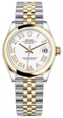 Rolex Datejust 31mm Stainless Steel and Yellow Gold 278243 White Roman Jubilee