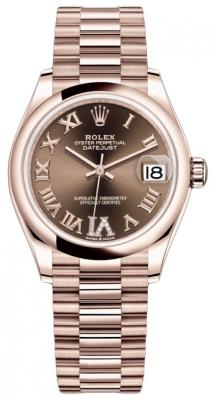 Rolex Datejust 31mm Everose Gold 278245 Chocolate VI Roman President
