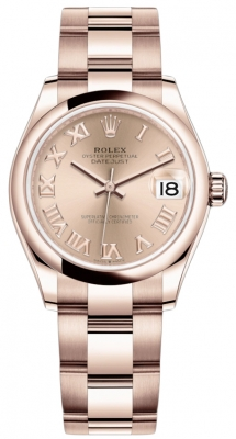 Rolex Datejust 31mm Everose Gold 278245 Pink Roman Oyster