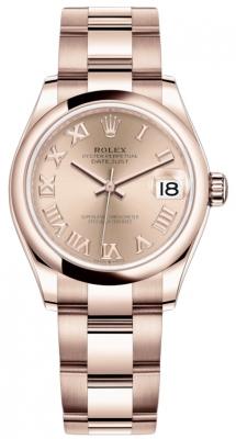 Rolex Datejust 31mm Everose Gold 278245 Pink Roman Oyster
