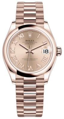 Rolex Datejust 31mm Everose Gold 278245 Pink Roman President