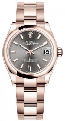 Rolex Datejust 31mm Everose Gold 278245 Rhodium Index Oyster