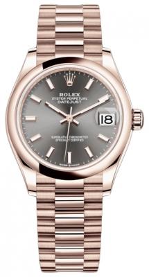 Rolex Datejust 31mm Everose Gold 278245 Rhodium Index President