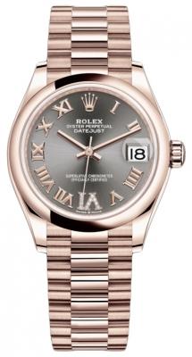 Rolex Datejust 31mm Everose Gold 278245 Rhodium VI Roman President