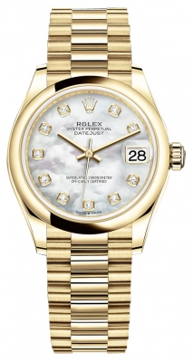 Rolex Datejust 31mm Yellow Gold 278248 MOP Diamond President